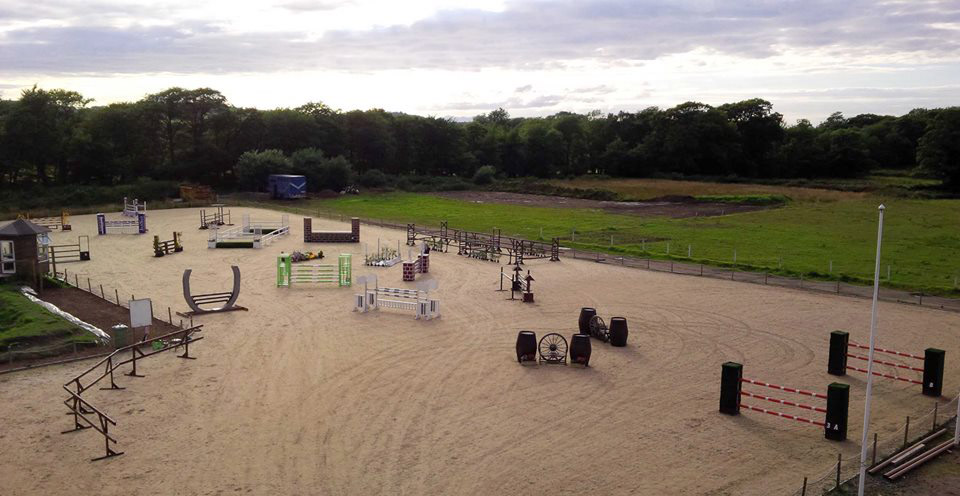 Muirmill Equestrian Centre Competition yard Derby Course Ayrshire Scotland